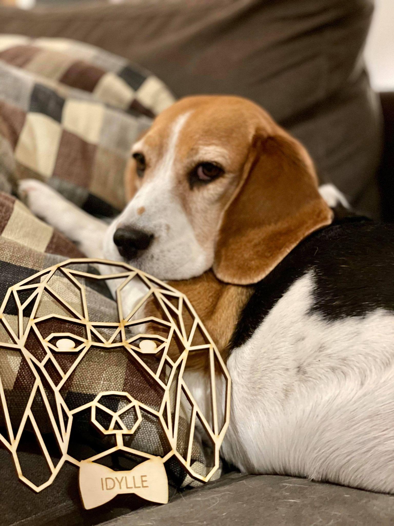 Beagle chien décoration murale