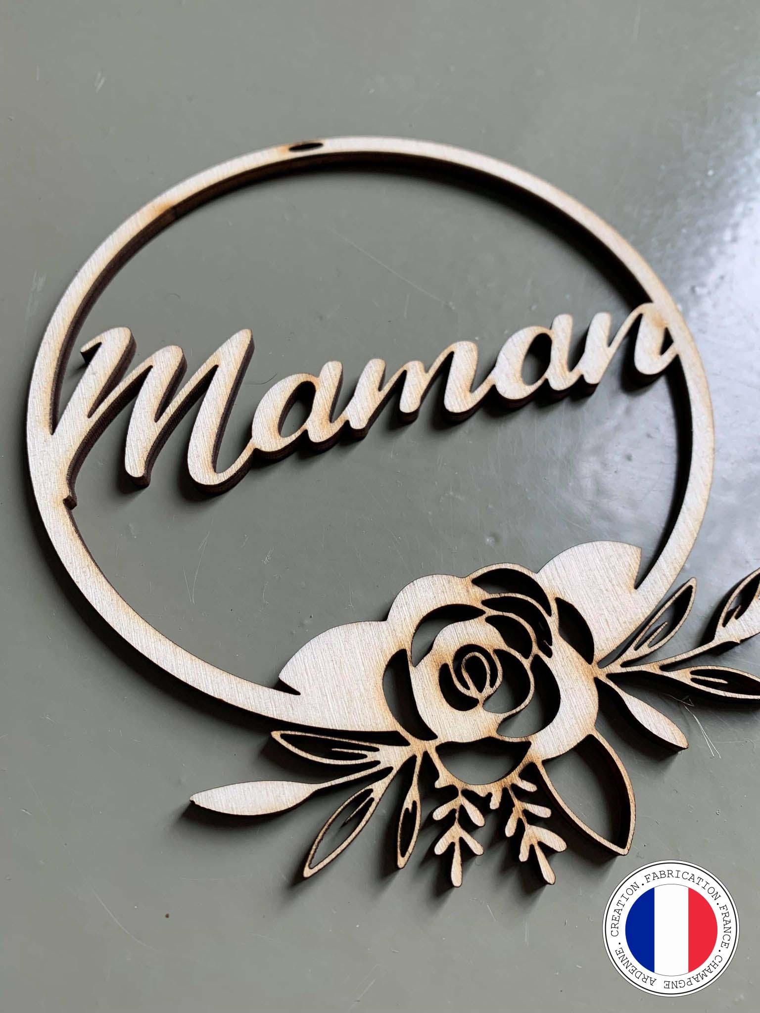couronne de fleur decorative maman